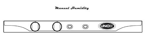 Unox Панель управления Manual конвекционных печей с пароувлажнением LineMiss Touch
