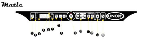 Unox Панель управления Matic конвекционных печей с пароувлажнением LineMiss Touch